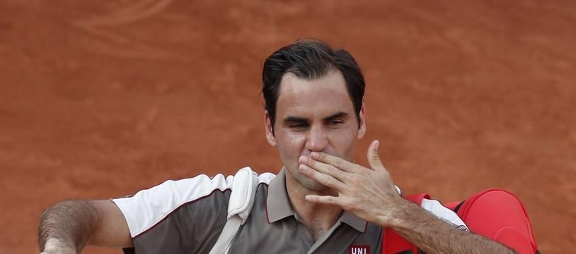 Roger Federer après sa victoire sur Stanislas Wawrinka en quart de finale à Roland-Garros, le 4 juin 2019.