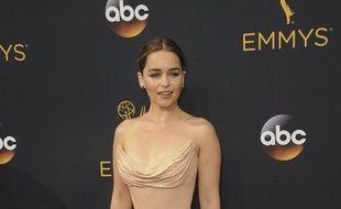 L'actrice Emilia Clarke aux Emmy Awards.