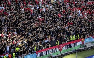 Les ultras hongrois n'ont pas trop apprécié le genou à terre avant le match.