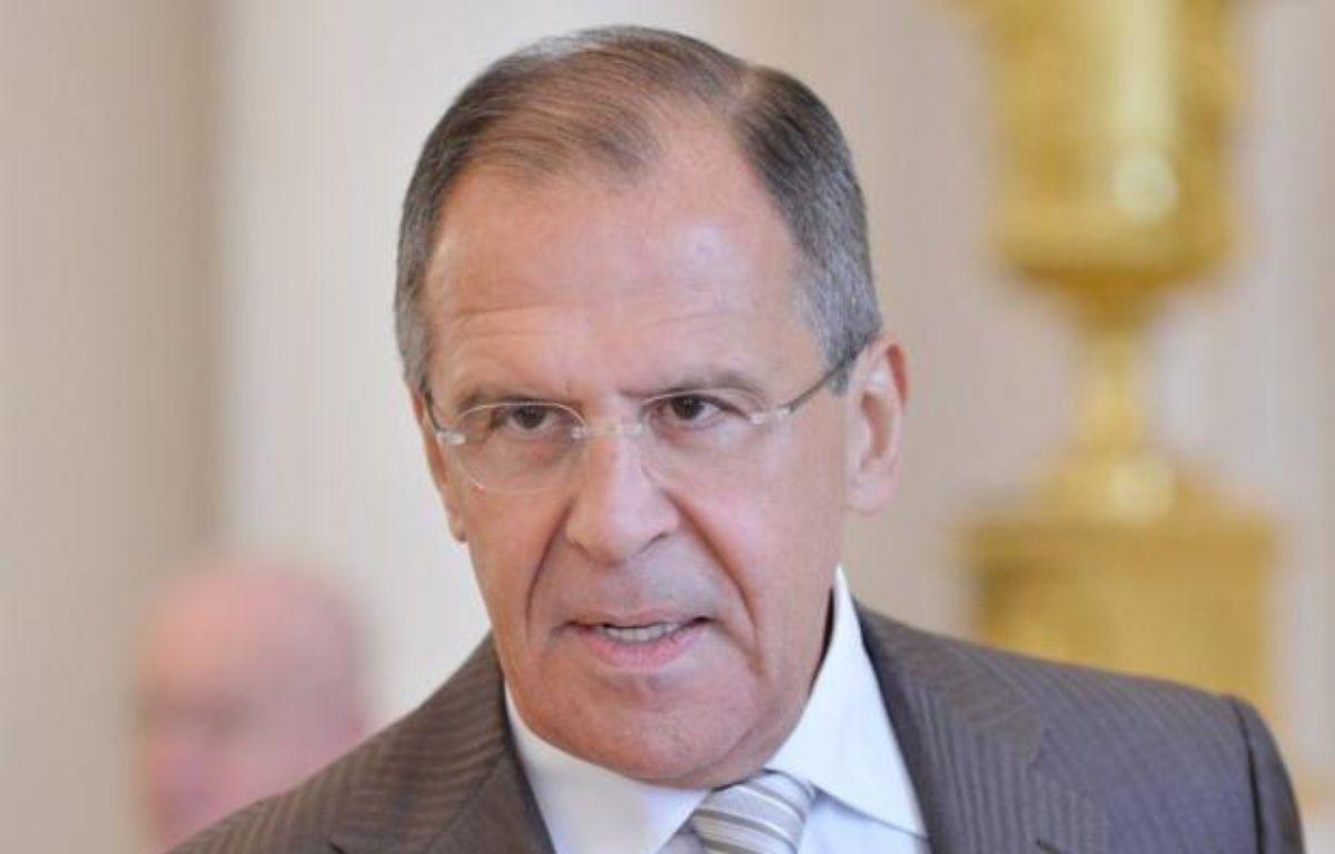 """Le ministre russe des Affaires étrangères, Sergueï Lavrov, a confirmé jeudi que Moscou avait été sollicité pour offrir l'asile politique au président syrien Bachar al-Assad, ce qu'il a estimé être une """"plaisanterie"""". – Natalia Kolesnikova afp.com"""