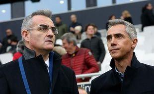 Eduardo Macia (à gauche) est le directeur sportif des Girondins de Bordeaux.