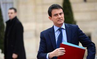 Manuel Valls à son arrivée le 4 avril 2014 à l'Elysée pour le premier conseil des ministres