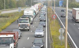 Illustration autoroute Strasbourg.