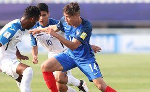Hamine Harit avec l'équipe de France lors du Mondial U20, où les Bleuets se sont fait sortir dès les 8e de finale le 1er juin 2017.