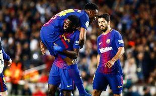 Ousmane Dembélé a inscrit son premier doublé avec le FC Barcelone face à Villarreal, le 9 mai 2018.
