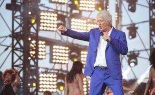 Patrick Sébastien lors des répétitions de l'émission «La Fête de la musique» (France 2), à Nice, le 20 juin 2015.