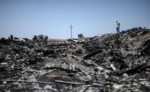 Les débris de l'avion MH17 dans l'est de l'Ukraine, le 26 juillet 2014