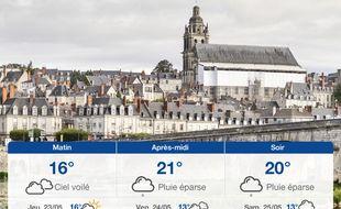 Météo Tours: Prévisions du mercredi 22 mai 2019