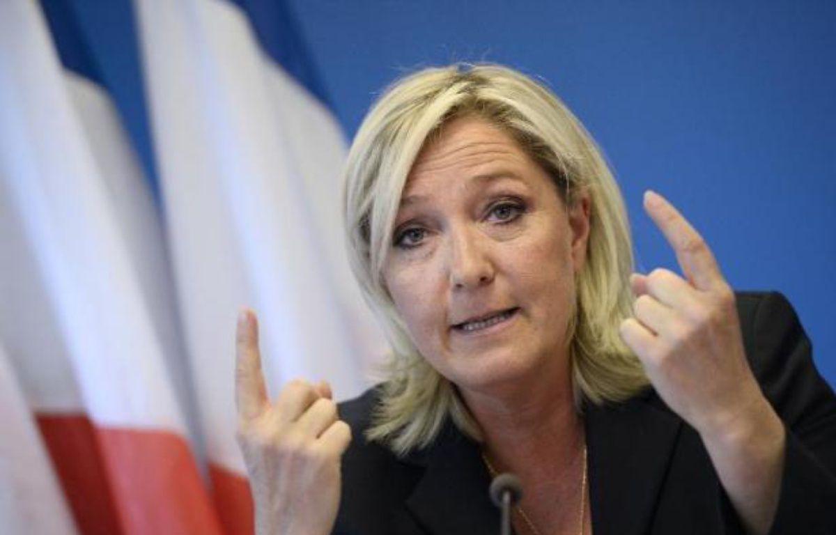 Marine Le Pen le 25 juin 2014 à Nanterre près de Paris – Stephane de Sakutin AFP