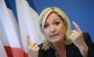Marine Le Pen le 25 juin 2014 à Nanterre près de Paris