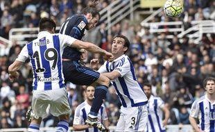 Gareth Bale a marqué le seul but de la victoire du Real Madrid face à la Real Sociedad (1-0), le 30 avril 2016.