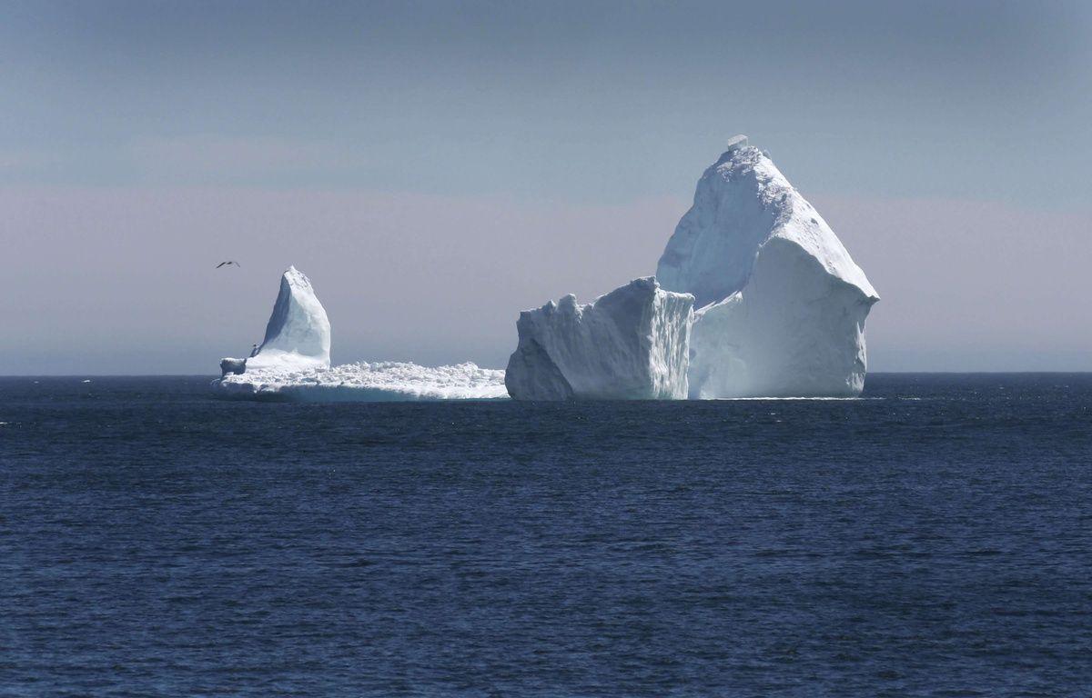 Un iceberg haut comme la statue de la Liberté a été photographié au large de Ferryland à Terre-Neuve (Canada) le 10 avril 2017. – Paul Daly/AP/SIPA