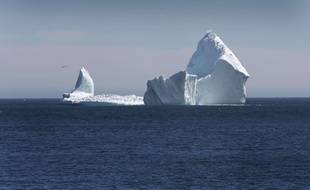 Un iceberg haut comme la statue de la Liberté a été photographié au large de Ferryland à Terre-Neuve (Canada) le 10 avril 2017.