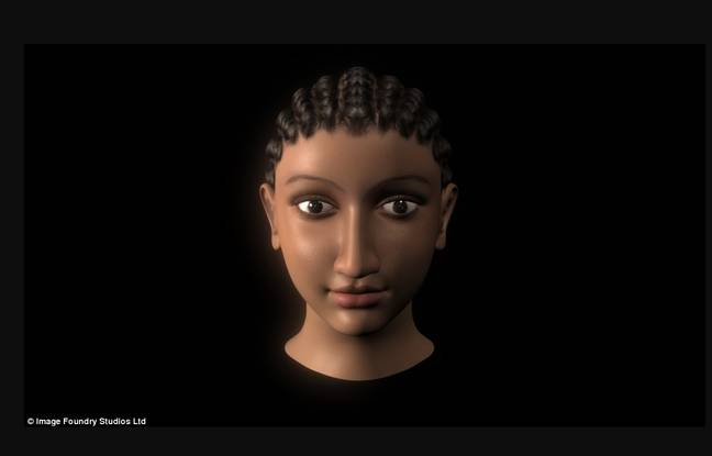Reconstitution de l'université de Cambridge du visage de Cléopâtre.