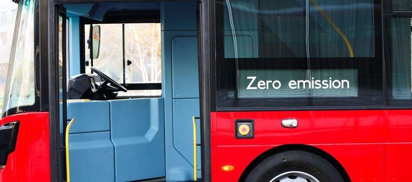 Illustration d'un bus à hydrogène à Londres, en 2016.