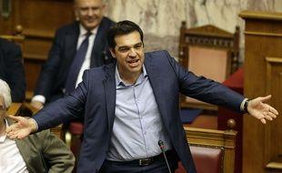 Le Premier ministre grec Alexis Tsipras au Parlement, à Athènes, le 23 juillet 2015.