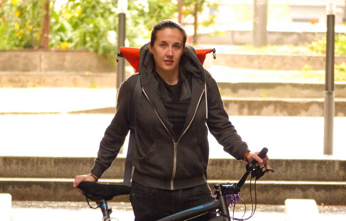 Caroline Faucon a créé à Lyon Baguette à bicyclette, service de livraison de pain frais à domicile. – E. Frisullo / 20 Minutes