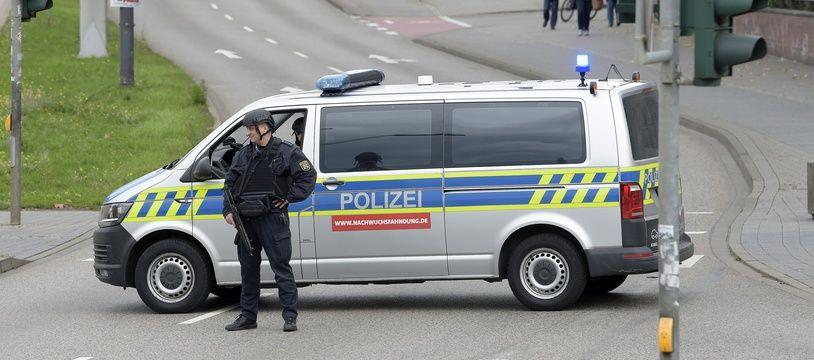 Une fusillade devant une synagogue à Halle, dans l'est de l'Allemagne, a fait deux morts, le 9 octobre 2019.