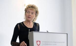 La ministre des Finances suisse Eveline Widmer-Schlumpf le 25 juillet 2014, à Bern