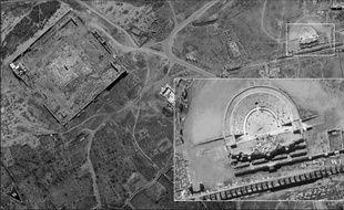"""Israël a dévoilé mardi des """"premières"""" images de grande précision d'un nouveau satellite espion prises au-dessus du site antique de Palmyre, en Syrie, pays voisin cible régulière de frappes israéliennes."""