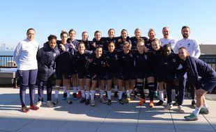 L'équipe féminine des Girondins de Bordeaux à New York.