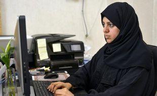 Nassima al-Sadah, candidate aux élections municipales à Qatif, à l'est de Riyad, le 26 novembre 2015