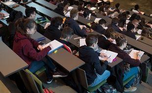 Des étudiants à l'université Paris Sorbonne en 2018.