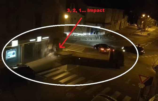 Vidéo - Pernes : l'attaque du Credit Lyonnais au camion bélier