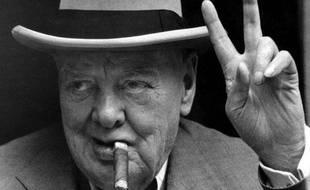 Winston Churchill en vacances à La French Riveira le 19 juin 1963
