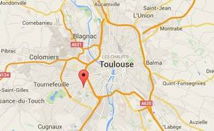 Localisation de l'avenue Louis-Bazerque, à Toulouse.