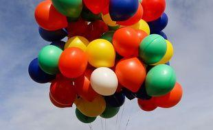 Les ballons de baudruche servaient à dissimuler la drogue. Illustration.