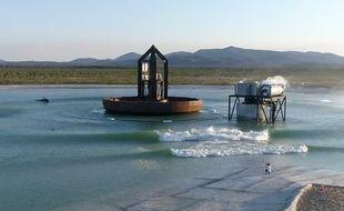 Une piscine à vagues artificielles.