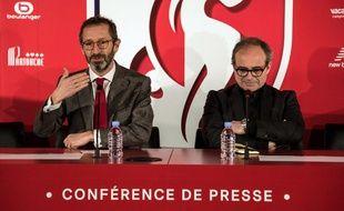 Marc Ingla, directeur général adjoint du Losc,  et Luis Campos, conseiller sportif du club