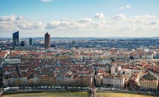 Lyon. Vue generale sur la Part Dieu depuis Fourviere Credit:Bony/SIPA/1602221647