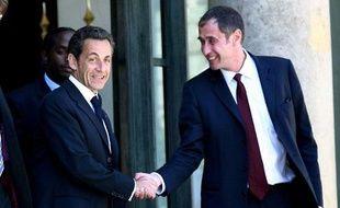 Nicolas Sarkozy et Richard Descoings le 2 juin 2009.