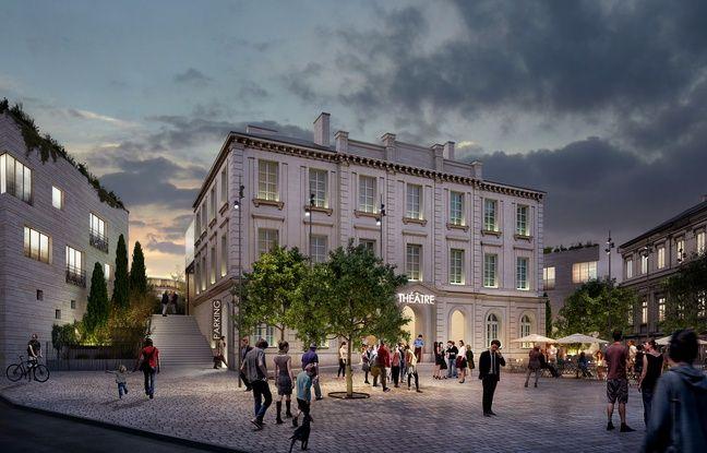 Image de synthèse du nouveau théâtre de Nantes