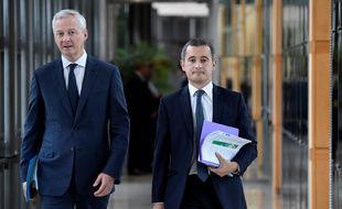 Bruno Le Maire et Gérald Darmanin, le 26 septembre 2019.
