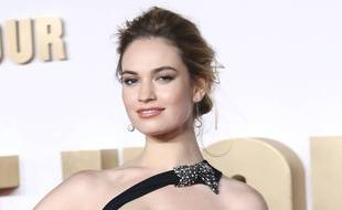 L'actrice Lily James