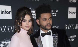 Selena Gomez et The Weeknd le 9 septembre 2017 à New York.
