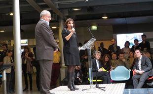 Paris, le 3 novembre 2014, Anne Hidalgo et Jean-Louis Missika ont présenté leur appel à projets urbains innovantes pour 23 sites à Paris.