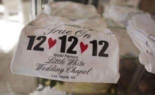 Tee-shirts réalisés spécialement pour le 12-12-12 à la White Wedding Chapel, de Las Vegas.