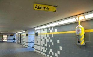 La gare RER de Noisy-le-sec, dans laquelle un jeune homme a été lynché samedi 2 avril dans la soirée, photographiée le 3 avril.