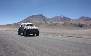 Les concurrents du Dakar ont traversé la Cordillères des Andes, le 7 janvier 2015, passant par un point culminant à 4.750 mètres d'altitude.