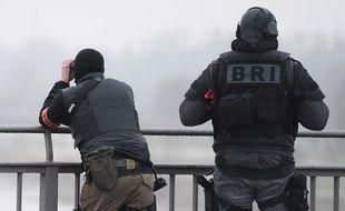 Des membres de la Brigades de recherche et d'intervention à Strasbourg le 12 décembre 2018