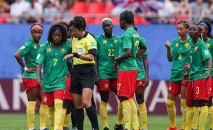 Les Camerounaises lors du match contre l'Angleterre.