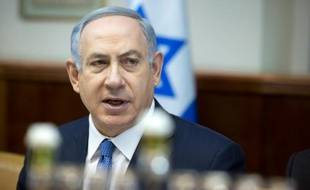 Le premier ministre Benjamin Netanyahou lors d'une réunion interministérielle hebdomadaire à Jérusalem, le 6 décembre 2015