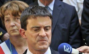 Manuel Valls en conférence de presse, le 18 juin 2012