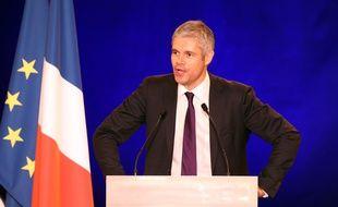 Laurent Wauquiez, à Nîmes, lors d'un meeting de l'UMP, le 27 novembre 2014.