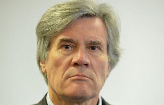 Le ministre de l'Agriculture Stéphane Le Foll à Luché-Pringe, le 29 janvier 2016