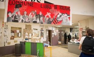 Paris, le 18 avril 2018. - La fac de Tolbiac est occupée par des étudiants depuis le 3 avril.